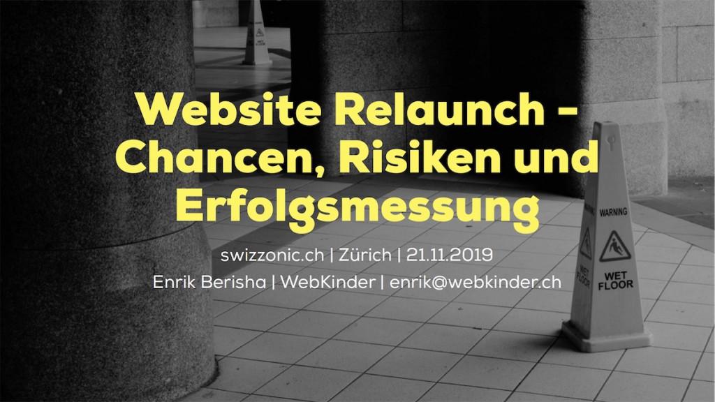 Website Relaunch - Chancen, Risiken und Erfolgsmessung